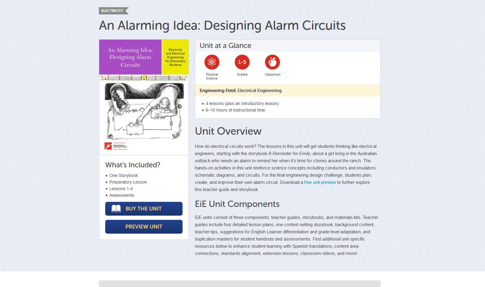 Curriculum unit page